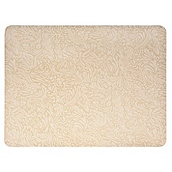 Denby - Pack of 4 gold 'Monsoon Lucille' placemats