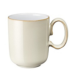 Denby - White 'Linen Kitchen' mug