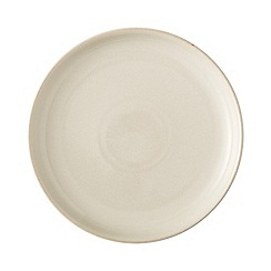 Denby - White 'Linen Kitchen' breakfast plate