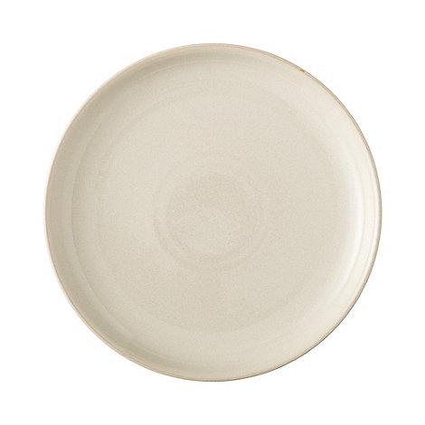 Denby - White glazed +Linen+ breakfast plate
