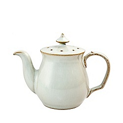 Denby - White 'Linen Kitchen' teapot-shaped pepper pot