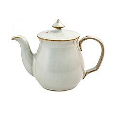 Denby - White 'Linen Kitchen' teapot-shaped salt pot