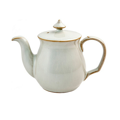 Denby - White 'Linen Kitchen' teapot-shaped salt pot