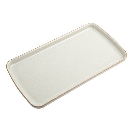 Denby - White +Linen Kitchen+ rectangular plate