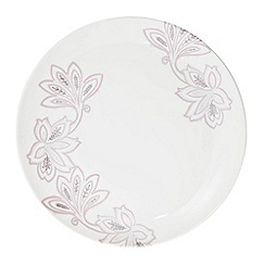 Denby - Fine china cream 'Monsoon Chantilly' dinner plate