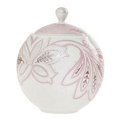 Denby - Fine china 'Monsoon Chantilly' covered sugar pot