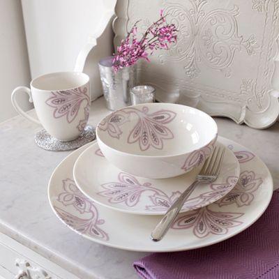 Denby Fine china Chantilly 16 piece dinnerware set