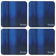 Denby set of four blue coasters