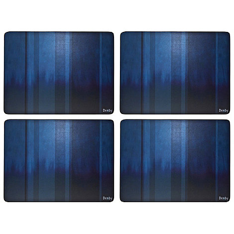 Denby - Set of four blue placemats