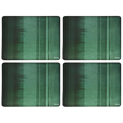Denby - Set of four green placemats