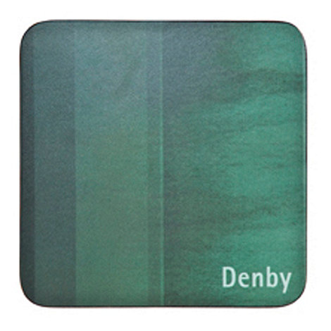 Denby - Pack of 4 green striped coasters