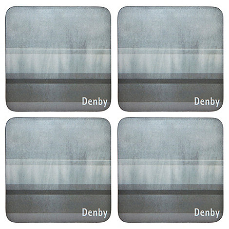 Denby - Pack of 4 grey striped coasters
