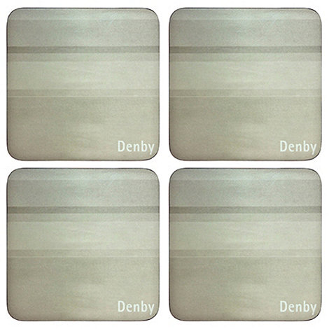 Denby - Pack of 4 natural coasters