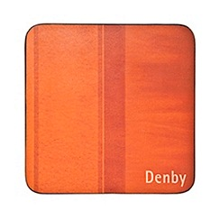 Denby - Set of four orange coasters