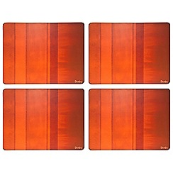 Denby - Set of four orange placemats