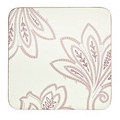 Denby - Set of four cream square 'Chantilly' coasters
