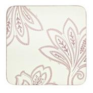 Denby set of four cream square 'Chantilly' coasters