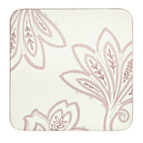 Denby - Set of four cream square +Chantilly+ coasters