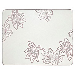Denby - Set of four cream square 'Chantilly' placemats