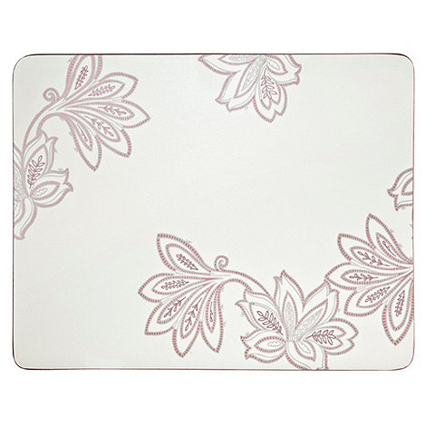 Denby - Set of four cream square +Chantilly+ placemats