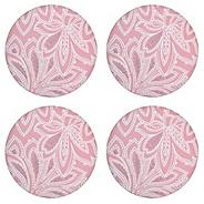 Denby set of four pink round 'Chantilly' placemats