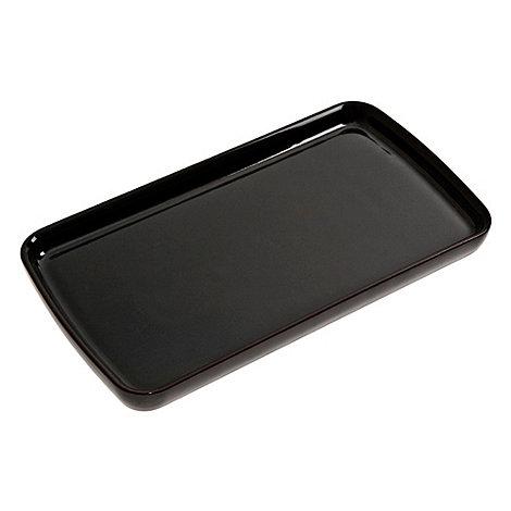 Denby - Stoneware black Jet rectangular plate