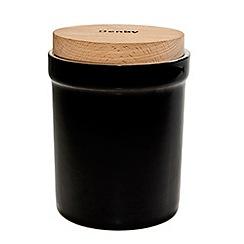 Denby - Stoneware black Jet storage jar