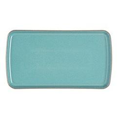 Denby - Stoneware aqua Azure rectangular plate