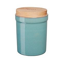 Denby - Stoneware aqua Azure storage jar