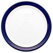 Stoneware dark blue dinner plate