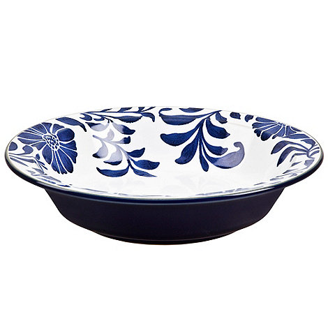 Denby - Stoneware dark blue +Bloom+ pasta bowl