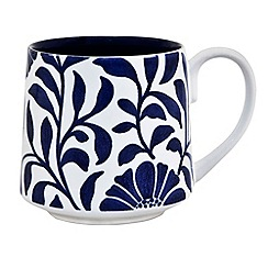 Denby - Stoneware dark blue 'Bloom' mug