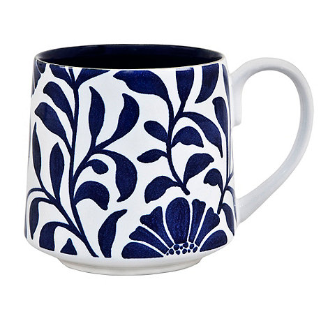 Denby - Stoneware dark blue +Bloom+ mug