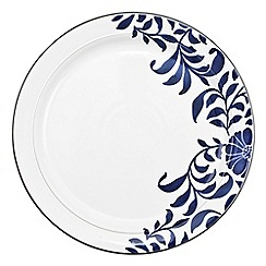 Denby - Stoneware dark blue 'Bloom' dinner plate