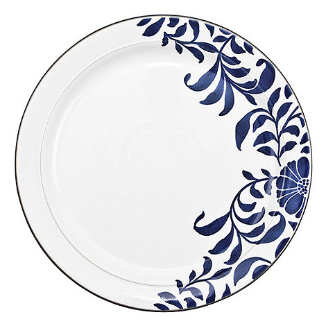 Denby - Stoneware dark blue +Bloom+ dinner plate