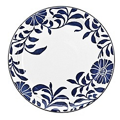 Denby - Stoneware dark blue 'Bloom' dessert plate