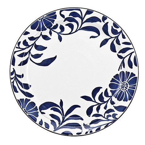 Denby - Stoneware dark blue +Bloom+ dessert plate