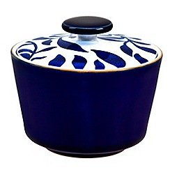 Denby - Stoneware dark blue 'Bloom' sugar bowl