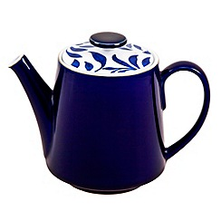 Denby - Stoneware dark blue 'Bloom' teapot