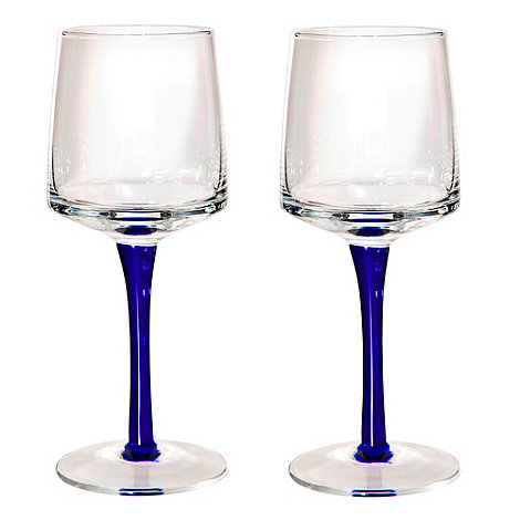 Denby - Set of two red wine glasses