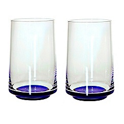 Denby - Set of two large glass tumblers