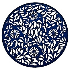 Denby - Dark blue 'Bloom' felt placemat
