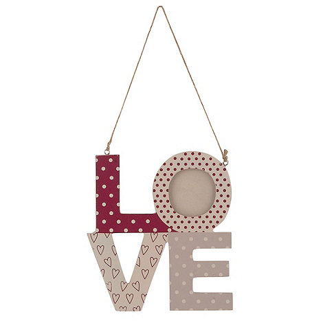 Gisela Graham - White +Love+ hanging sign
