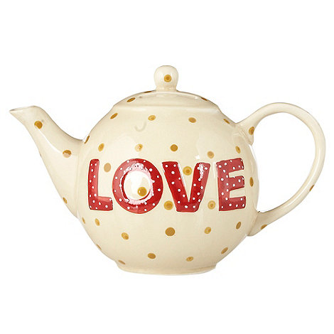 Gisela Graham - White teapot-shaped money box