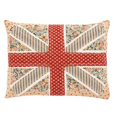 Camel appliqued 'Union Jack' cushion
