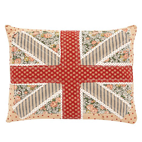 Gisela Graham - Camel appliqued 'Union Jack' cushion