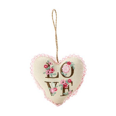 Gisela Graham - Lavender scented heart cushion