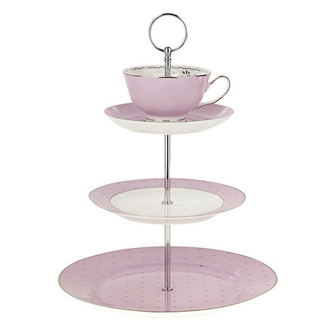 Bombay Duck - Pale pink three tier cake cup stand