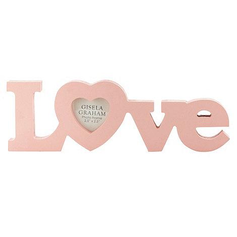Gisela Graham - Pink +Love+ photo frame