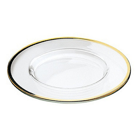 Vidivi Glass made in italy - Gold Rimmed Plate